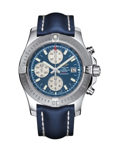 Colt Chronograph Automatic Stainless Steel / Mariner Blue / Calf / Pin