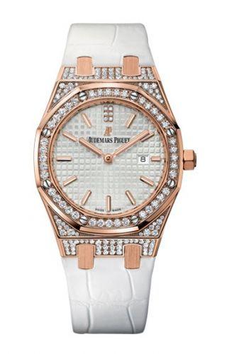 Royal Oak 33 Quartz Pink Gold / Diamond / Silver / Strap