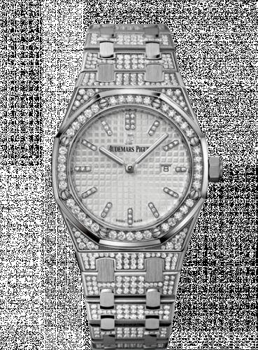 Royal Oak 33 Quartz White Gold / Diamond / Silver / Bracelet