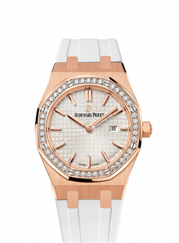 Royal Oak 67651 Quartz Pink Gold / Silver / Rubber