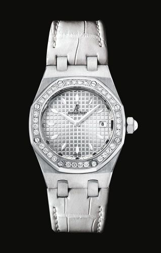 Royal Oak Quartz 67621 Stainless Steel / Diamond / Silver / Alligator