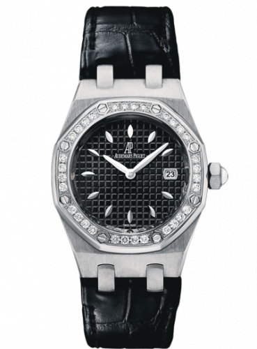Royal Oak Quartz 67621 Stainless Steel / Diamond / Black / Alligator