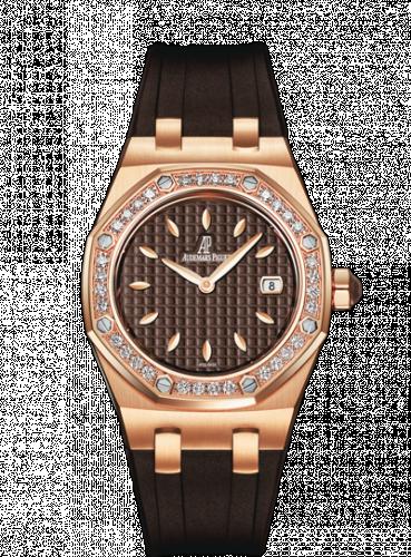 Royal Oak Quartz 67621 Pink Gold / Diamond / Brown / Rubber