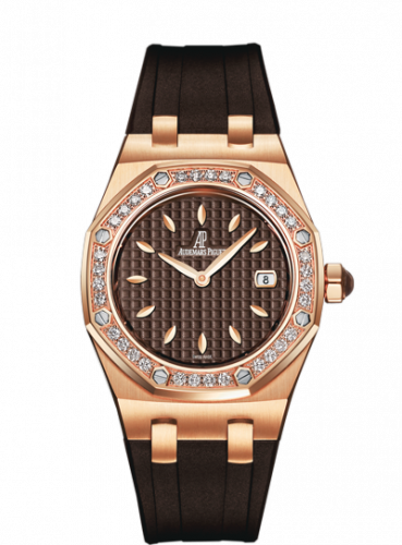 Royal Oak 67601 Quartz Pink Gold / Brown