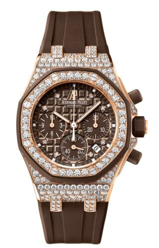 Royal Oak Offshore 26092 Lady Chronograph Pink Gold / Brown