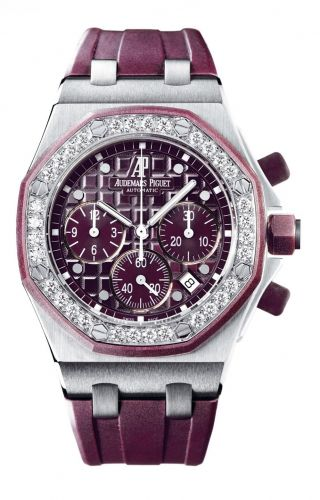 Royal Oak OffShore 26048 Lady Chronograph Stainless Steel / Plum