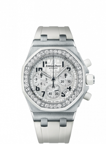 Royal Oak OffShore 26048 Lady Chronograph Stainless Steel / White