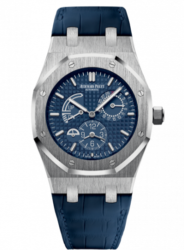 Royal Oak 26124 Dual Time Stainless Steel / Blue / Strap