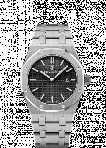 Royal Oak 67650 Quartz Stainless Steel / Black