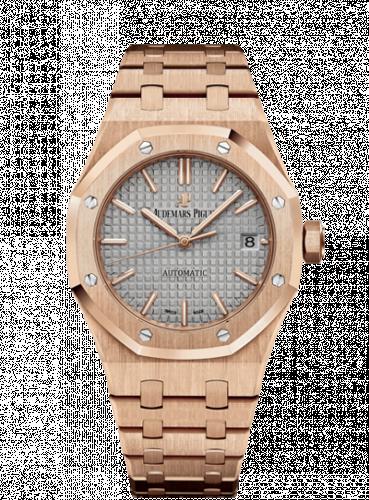 Royal Oak 15450 Selfwinding Pink Gold / Grey