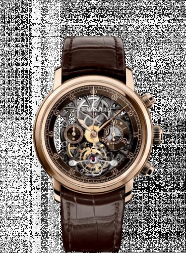 Jules Audemars 26346 Tourbillon Chronograph Openworked Pink Gold