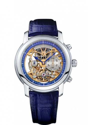 Jules Audemars 26353 Tourbillon Chronograph Openworked Platinum