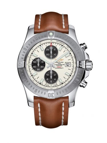 Colt Chronograph Automatic Stainless Steel / Stratus Silver / Calf / Pin