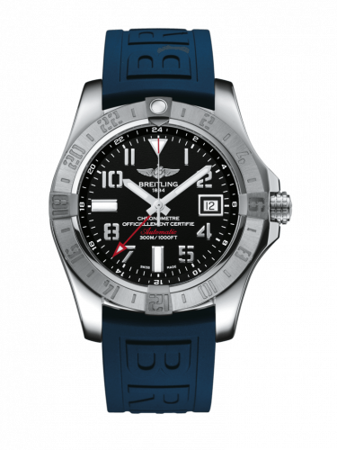 Avenger II GMT Stainless Steel / Volcano Black / Rubber / Pin