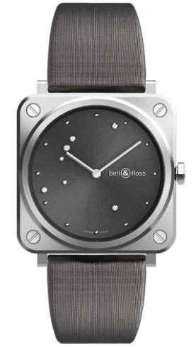 Ladies Bell & Ross Diamond Grey Strap Watch
