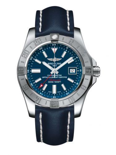 Avenger II GMT Stainless Steel / Mariner Blue / Calf / Folding