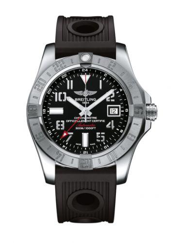 Avenger II GMT Stainless Steel / Volcano Black / Rubber