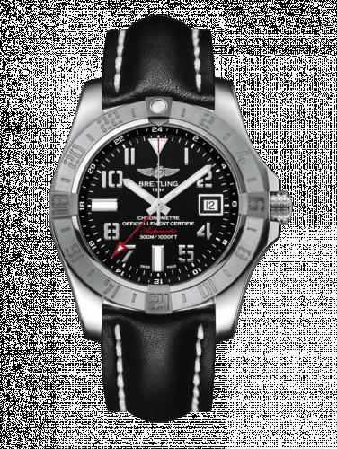 Avenger II GMT Stainless Steel / Volcano Black / Calf / Folding