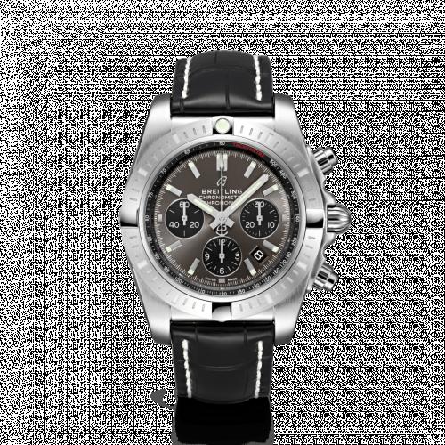 Chronomat B01 Chronograph 44 Stainless Steel / Blackeye Grey / Croco / Folding