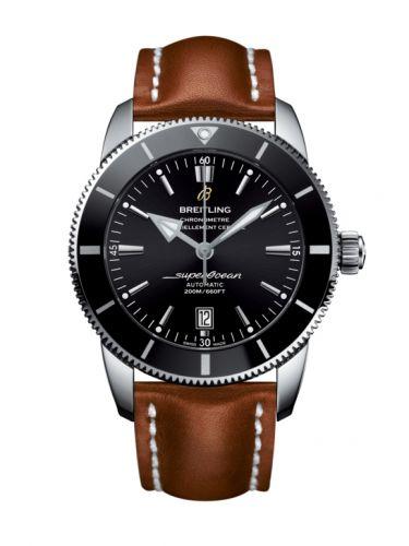 Superocean Heritage II 46 Stainless Steel / Black / Black / Calf / Pin