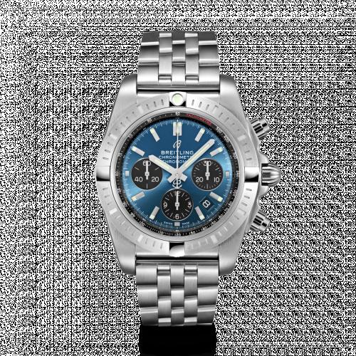 Chronomat B01 Chronograph 44 Stainless Steel / Blackeye Blue / Bracelet