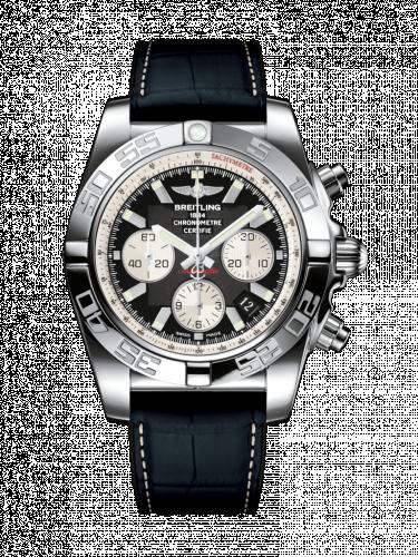 Chronomat 44 Stainless Steel / Onyx Black / Croco Rubber / Folding