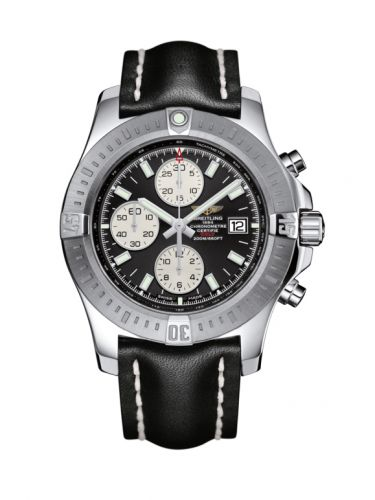 Colt Chronograph Automatic Stainless Steel / Volcano Black / Calf / Pin