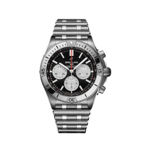 Chronomat B01 42 Stainless Steel / Black / Rouleaux