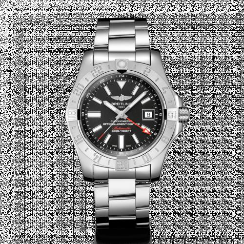 Avenger II GMT Stainless Steel / Volcano Black / Bracelet