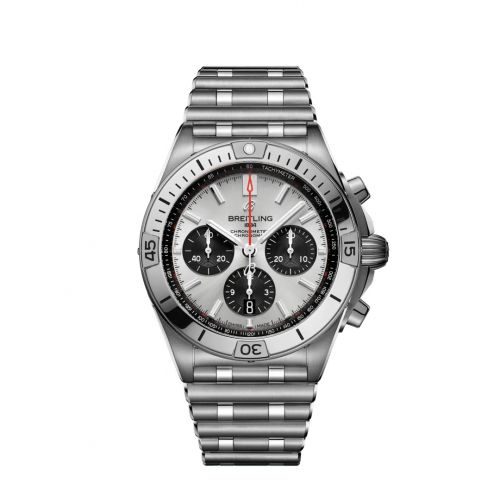 Chronomat B01 42 Stainless Steel / Silver / Rouleaux