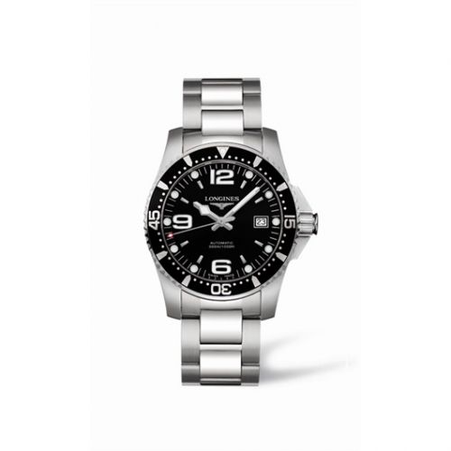 HydroConquest 41 Automatic Stainless Steel / Black / Bracelet