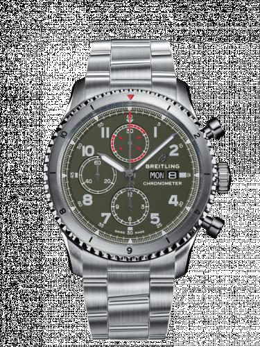 Aviator 8 Chronograph 43 Stainless Steel / Curtiss Warhawk / Canvas / Bracelet