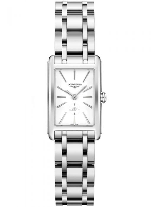 Ladies Longines DolceVita Steel White Dial Bracelet Watch