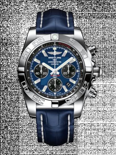 Chronomat 44 Stainless Steel / Blackeye Blue / Croco / Pin