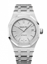 Royal Oak 15454 Selfwinding Frosted White Gold / Silver