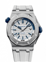 Royal Oak Offshore Diver Stainless Steel / White