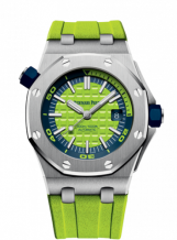 Royal Oak Offshore Diver Stainless Steel / Green