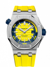 Royal Oak Offshore Diver Stainless Steel / Yellow