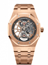 Royal Oak Ultra Thin Tourbillon Openworked Pink Gold