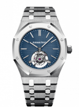 Royal Oak Ultra Thin Tourbillon Titanium / Platinum / Blue