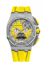 Royal Oak Offshore Tourbillon Chronograph Selfwinding Stainless Steel / Yellow
