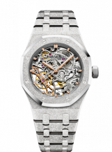 Royal Oak 37 Double Balance Wheel Openworked Frosted White Gold