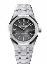 Royal Oak 15454 Selfwinding Frosted White Gold / Black