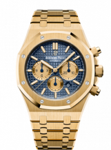 Royal Oak Chronograph 41 Yellow Gold / Blue / Bracelet