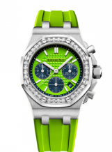 Royal Oak OffShore 26231 Lady Chronograph Stainless Steel / Green / Diamond