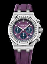 Royal Oak OffShore 26231 Lady Chronograph Stainless Steel / Plum / Diamond