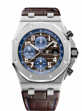 Royal Oak Offshore 42 Stainless Steel / Brown / Alligator