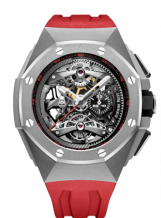 Royal Oak Concept Tourbillon Chronograph Openworked Selfwinding Titanium / Red