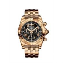 Chronomat 44 Rose Gold / Onyx Black Roman / Bracelet