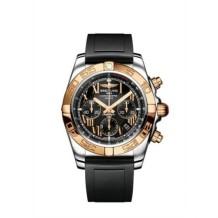 Chronomat 44 Stainless Steel / Rose Gold / Onyx Black Roman / Rubber